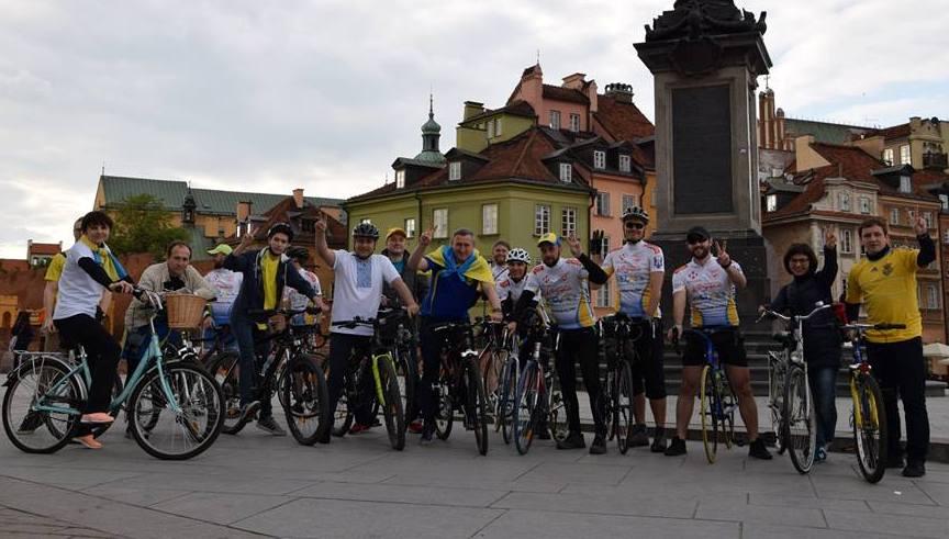 """Прага. Благодійний велопробіг """"Українці в Європі"""""""