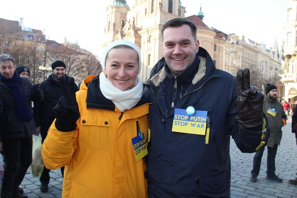 Mezinárodní akce Stop Putin-Stop War- Česká republika