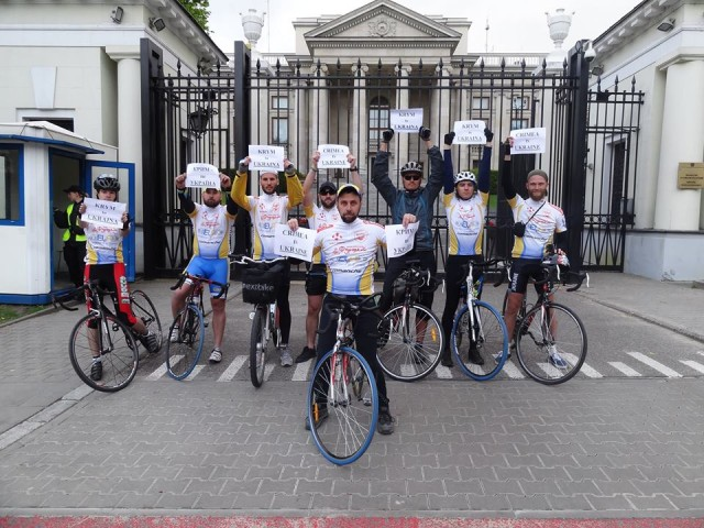 """Setkání s účastníky cyklistického maratónu """"Ukrajinci v Evropě"""""""